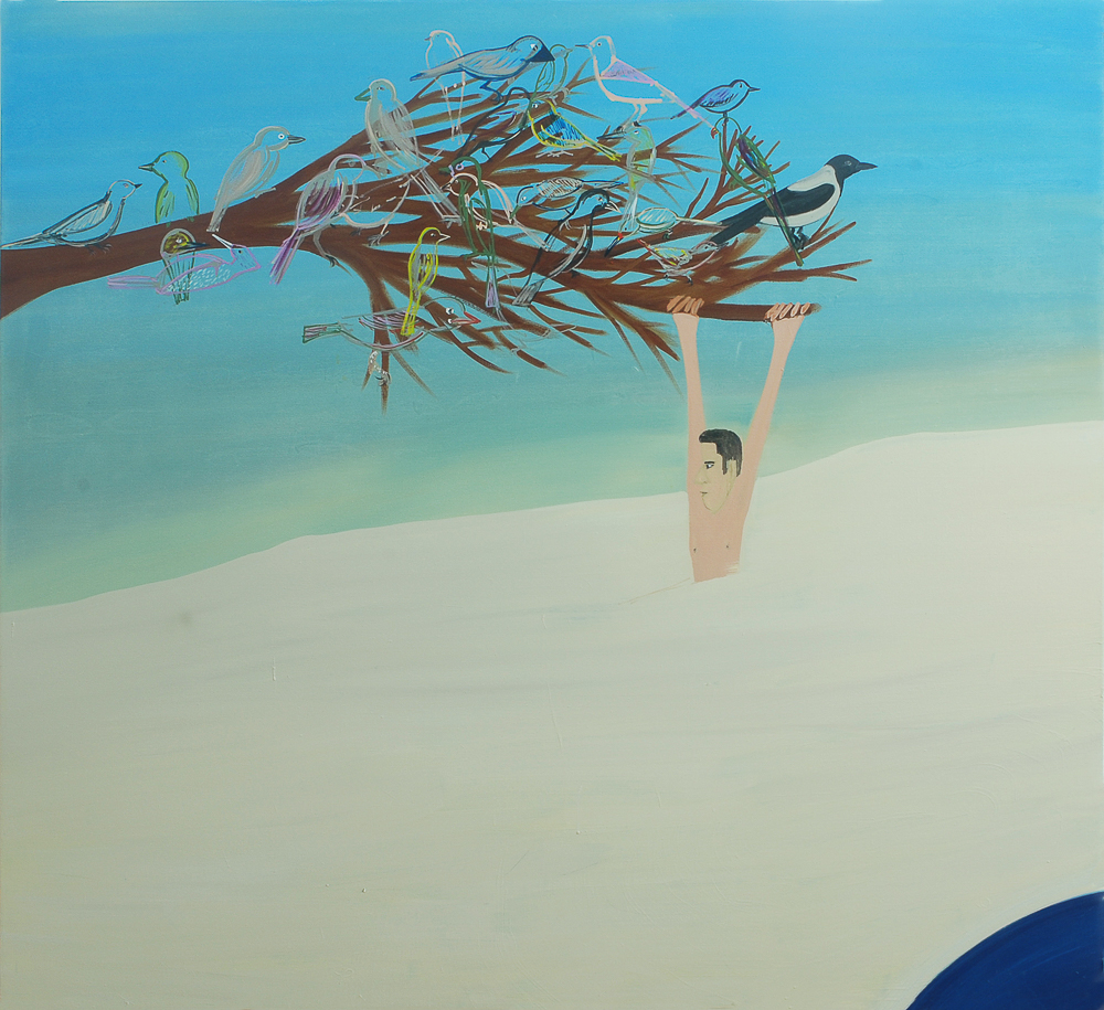 Hang On, 2009, oil on canvas, 176x190 cm